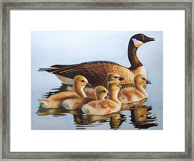 Family Time Framed Print by Greg and Linda Halom