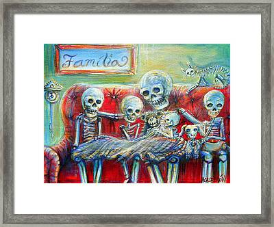 Framed Print featuring the painting Family Time by Heather Calderon