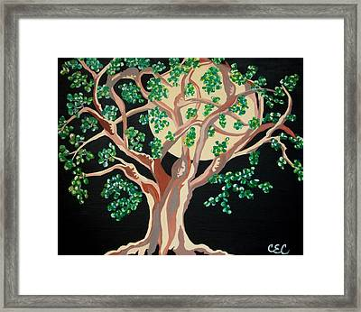 Framed Print featuring the painting Family Tree by Carolyn Cable