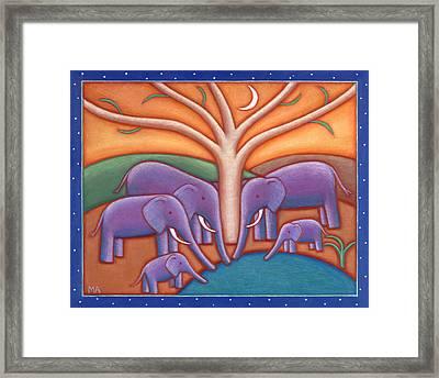 Family Tree Framed Print by Mary Anne Nagy