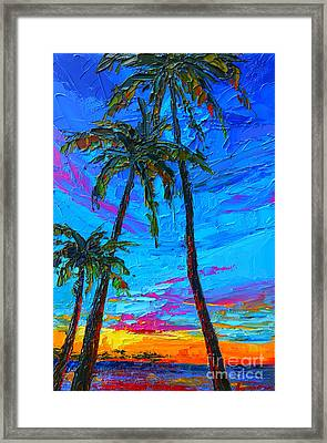 Family Tree - Modern Impressionistic Landscape Palette Knife Oil Painting Framed Print by Patricia Awapara