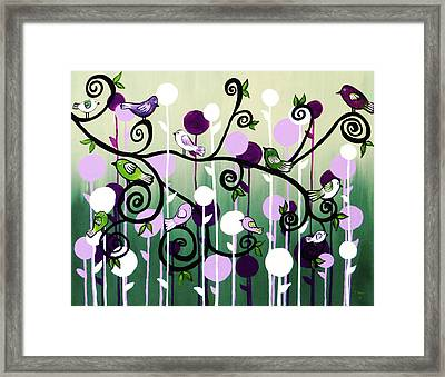 Framed Print featuring the painting Family Tree by Teresa Wing