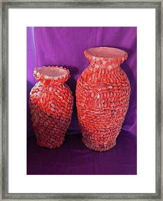Family Vase Framed Print by Arlin Jules