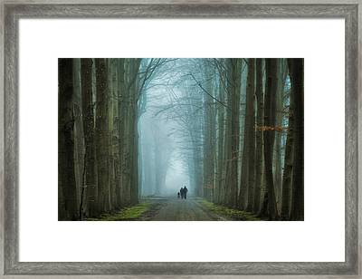 Family Walk Framed Print