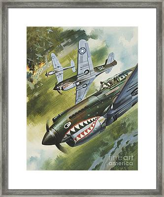 Famous Aircraft And Their Pilots Framed Print by Wilf Hardy