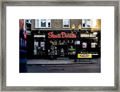 Famous Chicago Donut Shop Framed Print