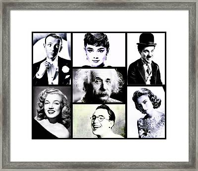 Famous Faces Framed Print by Esoterica Art Agency