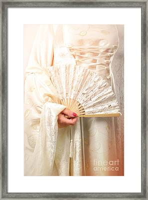 Fan Framed Print by Amanda Elwell