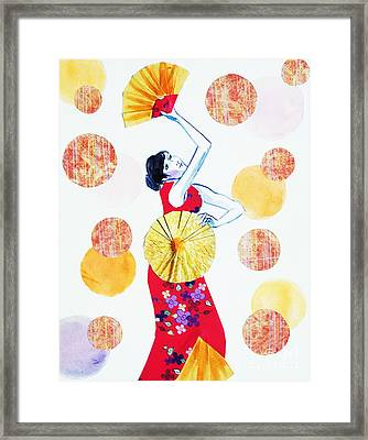 Fan Dance Framed Print