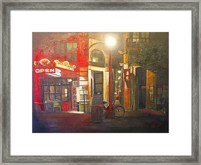 Fan Tan Alley Framed Print by Victoria Heryet