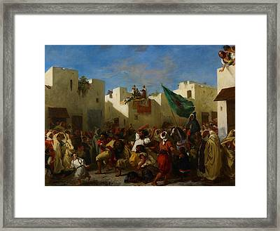 Fanatics Of Tangier Framed Print by Eugene Delacroix
