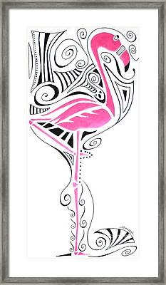 Fanciful Flamingo Framed Print