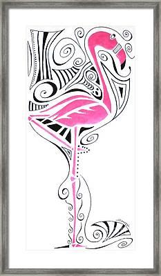 Fanciful Flamingo Framed Print