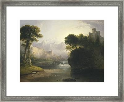 Fanciful Landscape Framed Print by Thomas Doughty