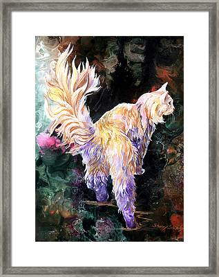 Framed Print featuring the painting Fancy Britches by Sherry Shipley