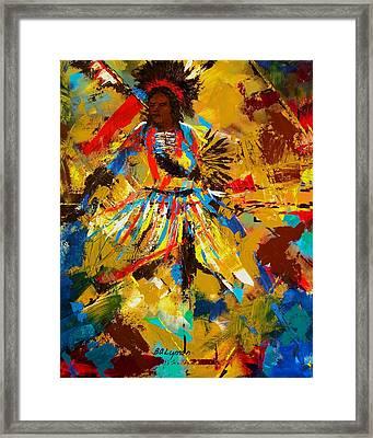Fancy Dancer Framed Print by Brooke Lyman