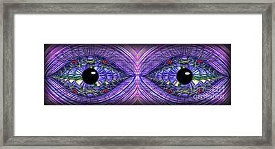 Fancy Eyes By Kaye Menner Framed Print by Kaye Menner