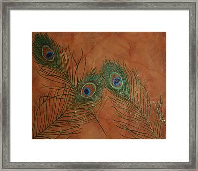 Fancy Feathers Framed Print by Sandra Poirier