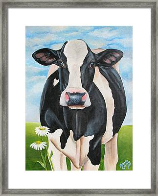 Fancy Fiona Framed Print by Laura Carey