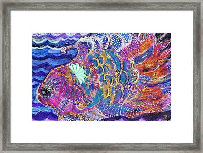Fancy Fish On A Monday  Framed Print by Anne-Elizabeth Whiteway