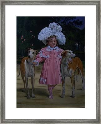 Fancy Grayhounds  Framed Print by Robert E Gebler