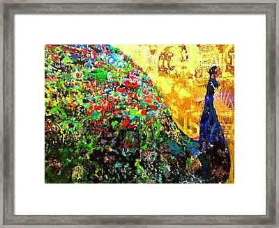Fancy Peacock Framed Print by Lisa McKinney