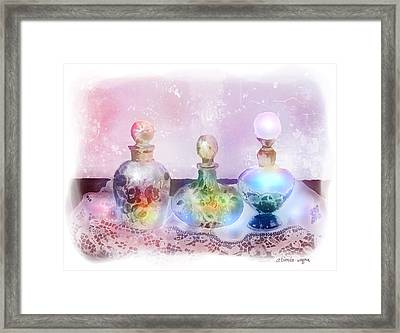Fancy Perfume Bottles Framed Print by Arline Wagner