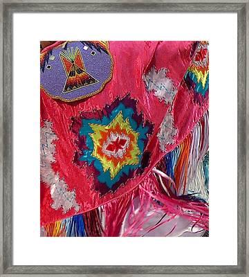 Fancy Shawl Dancer Detail Framed Print by Tim McCarthy