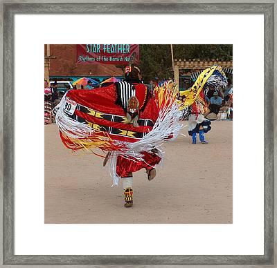 Fancy Shawl Dancer Framed Print by Tim McCarthy