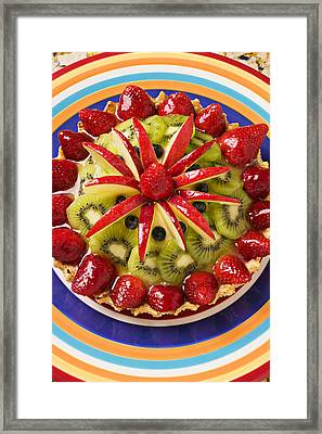 Fancy Tart Pie Framed Print by Garry Gay