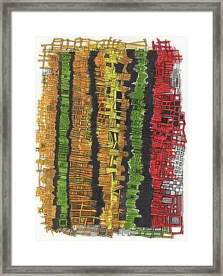 Fancy Towers Framed Print by Sandra Church