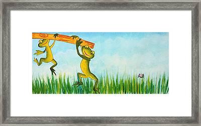 Fancy Wallpaper For Kids Framed Print