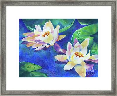 Fancy Waterlilies Framed Print by Kathy Braud