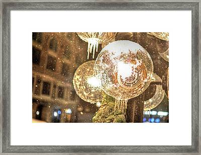 Faneuil Hall Lollypop Light Icicles Boston Ma Framed Print by Toby McGuire