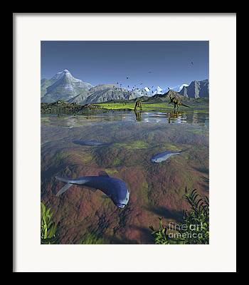 North American Inland Sea Framed Prints