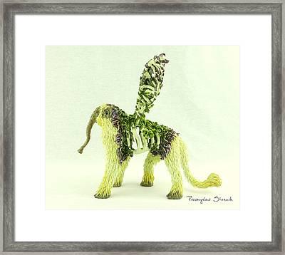 Fangorus Polymer Clay Fantasy Sculpture Framed Print by Przemyslaw Stanuch