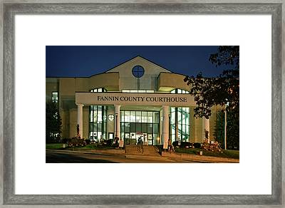 Fannin County Georgia Courthouse Framed Print