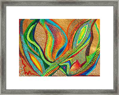 Framed Print featuring the painting Fanning Flames by Polly Castor