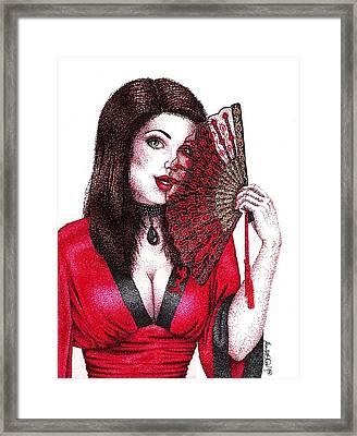 Fanning Flirtation Framed Print by Scarlett Royal