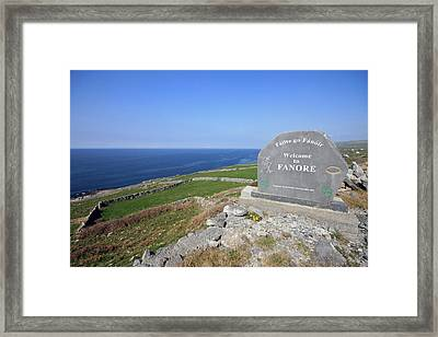 Fanore Village Framed Print by John Quinn