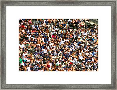 Fans Framed Print by Mitch Cat