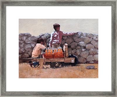 Fanta Orange Framed Print by Robert Bissett