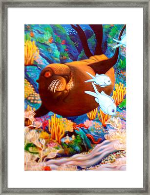 Fantasea Framed Print by Barbara Stirrup