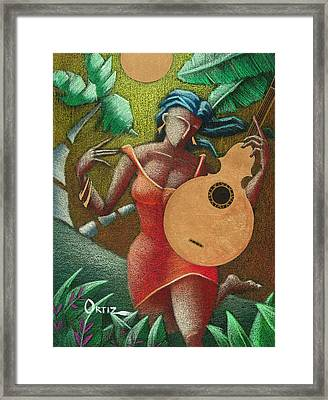 Fantasia Boricua Framed Print by Oscar Ortiz