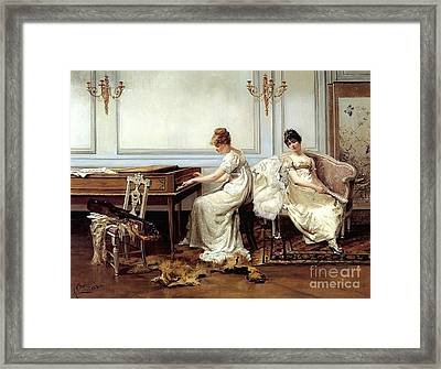 Fantasia In White Framed Print by MotionAge Designs