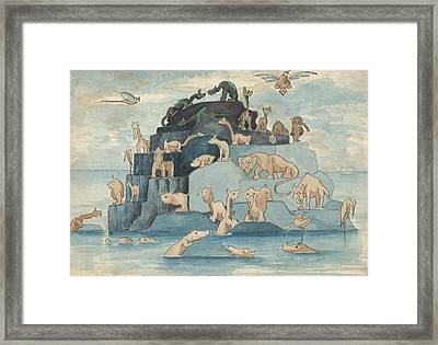 Fantastic Animals Left Off The Ark Framed Print by Herbert Crowley