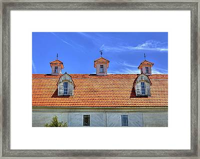 Fantastic Barn Roof With Dormer Windows And Cupolas Framed Print by William Sturgell