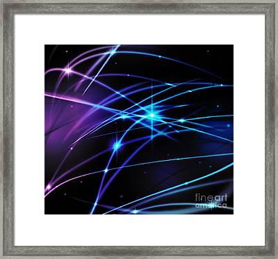 Fantastic Light Line Framed Print by Atiketta Sangasaeng