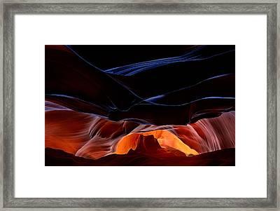 Fantastic Scenery Of Antelope Canyon Framed Print
