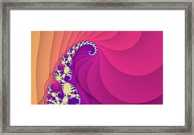 Fantastic Spiral Art Framed Print by Marina Likholat